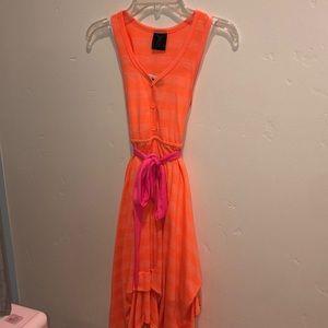 Other - Girls neon orange summer dress